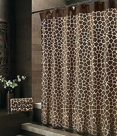"Bay Linens ""Safari"" Giraffe Shower Curtain 