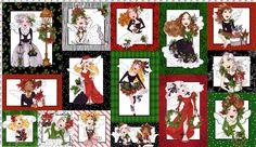 Fairy Merry Christmas Fabric Panel