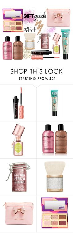 """BFF Gift Guide"" by stavrolga on Polyvore featuring beauty, Benefit, philosophy, Major Moonshine, MAC Cosmetics, Ted Baker, tarte, Urban Decay, giftguide and Beauty"