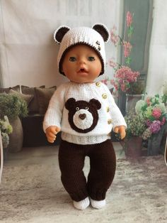 Baby Knitting Patterns Cardigan I offer a suit on a bebiborn, consists and … Baby Born Clothes, American Girl Clothes, Girl Doll Clothes, Knitting Dolls Clothes, Crochet Doll Clothes, Doll Clothes Patterns, Knitted Doll Patterns, Knitted Dolls, Baby Knitting Patterns