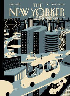 The New Yorker, November Illustration by Frank Viva. The New Yorker, New Yorker Covers, Print Magazine, Magazine Art, Capas New Yorker, Graphic Design Magazine, Magazine Design, Magazin Covers, Self Driving