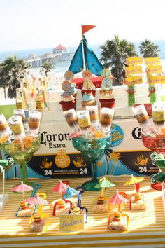 Hostess with the Mostess® - {A Pirate Looks at Jimmy Buffett Beach Bash Luau Party, Beach Party, Summer Parties, Holiday Parties, Monopoly Party, Adult Party Themes, Boy Birthday Parties, 30th Birthday, Birthday Ideas