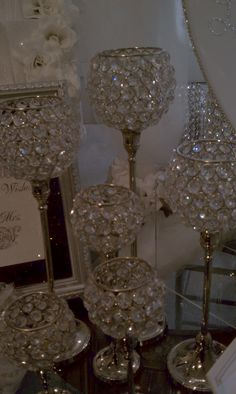 A little sparkle for the table?I have these for the Glamour Weddings we do, you can get at ZGallery :)