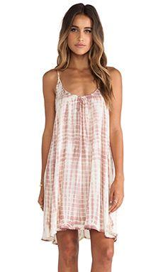 Tiare Hawaii Voile Stud Dress in Cream & Skin Sabia