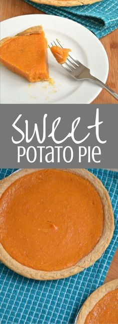 Sweet Potato Pie is the perfect Thanksgiving dessert. Your whole family will love my grandmother's recipe for the BEST sweet potato pie. Clickthrough to find the full recipe and more dessert ideas!
