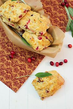 Cranberry and Sage Biscuits by @LittleRedKitchen #Baking #Biscuit
