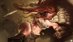 Red Sonja by gaboleps