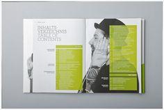 portfolio layout green black and white