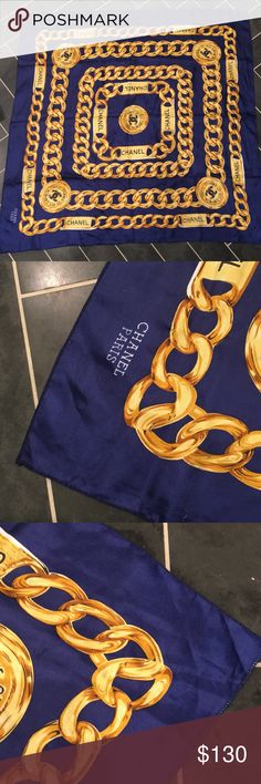 CHANEL gold chain scarf Good preowned condition I don't have a box or tags CHANEL Accessories Scarves & Wraps