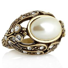"Heidi Daus ""Hues Loveliest of All"" Simulated Pearl Ring at HSN.com."