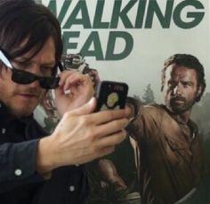 Norman Reedus taking a selfie ♥️