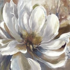Bring romantic appeal to your room with the Melody Soft Canvas Wall Art. The stunning artwork features a blossoming floral giclee print in soft hues of tan and pure white on a gallery wrapped canvas. Oil Painting Flowers, Abstract Flowers, Watercolor Flowers, Watercolor Art, Beach Artwork, Black And White Painting, Modern Wall Art, Flower Art, Canvas Wall Art