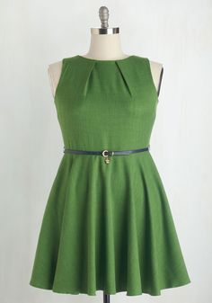 Luck Be a Lady Dress in Fern. If youve been searching for a charming new frock, then youre in luck! #green #modcloth