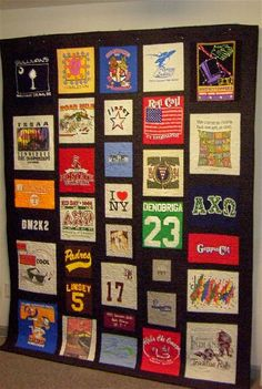 T-shirt Quilts - Quilted Blessings Quilt Shop, longarm machine quilting, t-shirt quilts, memory quilts