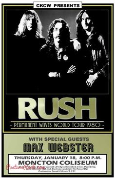 rush tour posters | Rush World Tour Poster - Posters Rock