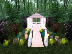 Fairy Wedding Gazebo with mushrooms - Pink
