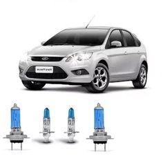 kit lampada farol super branca tipo xenon ford focus 09/13