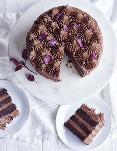 chokladtårta 1 Death By Chocolate, Chocolate Cake, Nutella Frosting, Fika, Tart, Cheesecake, Cake Decorating, Food And Drink, Cooking Recipes