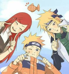 Uzumaki Kushina, Uzumaki Naruto and Namikaze Minato Naruto Minato, Neji E Tenten, Naruto Cute, Naruto Funny, Naruto Shippuden Anime, Narusaku, Sasunaru, Kakashi, Naruhina