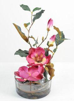 5 x Chrysanthèmes Bourgogne Fleurs Têtes Art Fleurs-Soie Fleurs