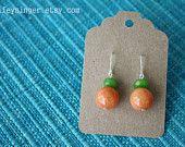 earrings: pumpkin orange and apple green jade via http://www.etsy.com/shop/wifeysinger#