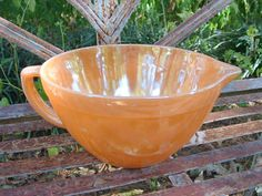 Vintage Fire King - Peach Lustre Batter Bowl