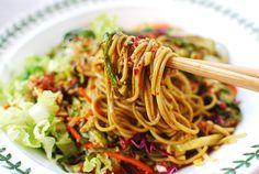 Jaengban Guksu (Korean Cold Noodles and Vegetables) | Korean Bapsang