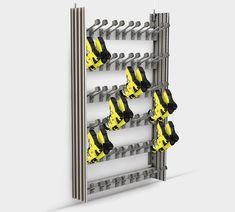 Attractive ski storage system from Wintersteiger Ski Rental, Ski Shop, Sports Equipment, Lockers, Skiing, Compact, Organization, Storage, Room