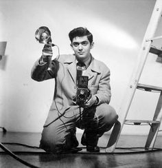 Director Stanley Kubrick self portrait early on when he supported himself as a still photographer.