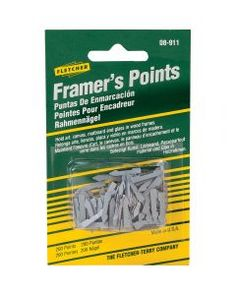 Framing Points: Approximately 200 per pack. Hold art, canvas, matboard and glass in wood frames. brbr brShown with Framer's Pliers (sold separately, Rockler# Picture Framing Tools, Picture Frames, How To Make Frames, Carriage Bolt, Retail Shelving, Nails And Screws, Framing Photography, Air Tools, Tools For Sale