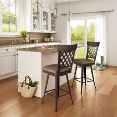 AMISCO - Wicker Stool (41515) - Furniture - Kitchen - Countryside collection - Traditional - Swivel stool