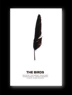 The Birds Minimaist Poster Movie