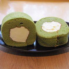 Green Tea Sponge Cake with Fresh Whipped Cream in the Center -- What I had @ Ossulloc in Jeju Island, South Korea! #greentea #cake #cream #jejuisland #jeju #ossulloc #southkorea #follow #followme #foodporn #foodphoto #foodislife #foodstagram #dessert #delicious #instafood #foodphotography #wondersforthesoul
