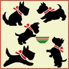 Small Scotty Dog Stencil Set