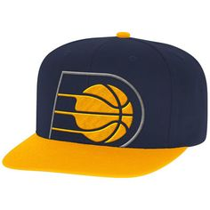 buy online df3bf b8a1d Indiana Pacers Mitchell   Ness Cropped XL Logo Adjustable Snapback Hat -  Navy Gold