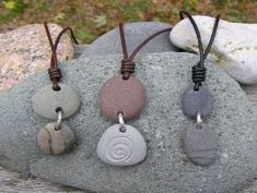 Cape Cod beach stone jewelry by KEM Designs #jewelrymaking