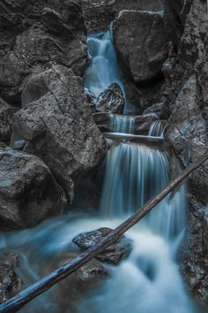 Blue waterfall by George Iorgulescu on 500px