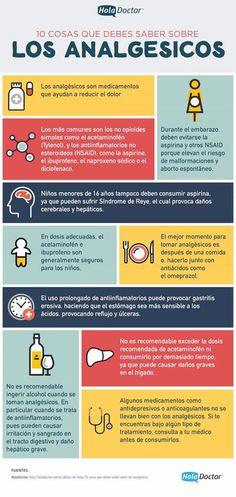 Información sobre los analgésicos y que nunca está de más conocer. #analgésicos #infografía #salud