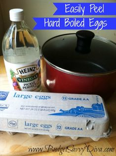 How to Easily Peel Hard Boiled Eggs: Add a Little Vinegar to the Water