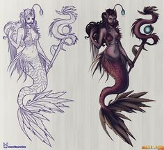 Nami The Tidecaller from League of Legends, Nami Angler Fish Skin Concept By Jennifer Duong. Mermaid, Sea Maiden, Monster of the Deep