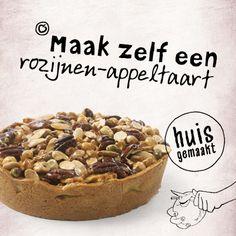 Maak zelf een rozijn-appeltaart. Bekijk het recept: http://www.laplace.com/content/la-place/recepten-van-La-Place/recept-appel-caketaart.html