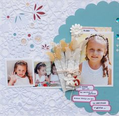 Scrapbook Page with embellishment clusters by Betsy Sammarco  | GetItScrapped.com/blog