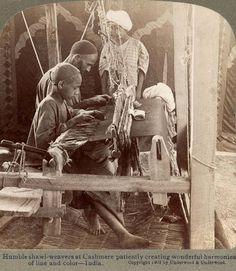 Shawl weavers - Kashmir, 1903