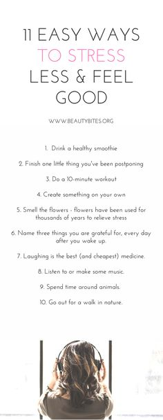 11 ways to eliminate stress, even if life doesn't just give you a break! These 11 self-care tips are essential to stay healthy in today's crazy world. http://www.beautybites.org/11-little-things-make-feel-good-today-no-matter-crazy-busy/ | Healthy morning routine - healthy lifestyle