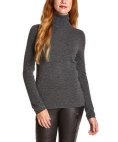 Look at this #zulilyfind! Charcoal Heather Cashmere Turtleneck Sweater by In Cashmere #zulilyfinds