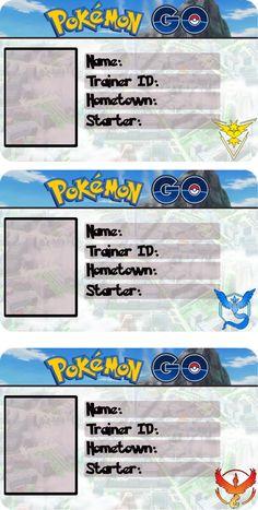 Pokemon Go ID Cards