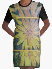 Yellow flower Graphic T-Shirt Dress