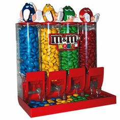 Remember Mom in her special day and give her this M&M candy dispenser filled with M&M candies in all four colors. Round Ice Cube Trays, Round Ice Cubes, Candy Dispenser, Little Girl Toys, Toys For Girls, M M Candy, Candy Shop, Remembering Mom, Gadgets