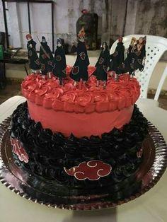 I need this and I ain't waiting on a birthday. Naruto Shippuden Sasuke, Naruto Kakashi, Anime Naruto, Akatsuki, Bolo Do Naruto, Naruto Birthday, Anime Cake, Anime Crafts, Pretty Cakes