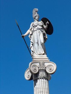 Pallas Athene - Female God of Courage, Wisdom, Inspiration etc who was said to have sprung into existence fully armed from the head of Zeus